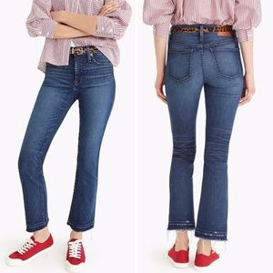 J. Crew Billie Demi Boot Ankle Crop Jeans NWT